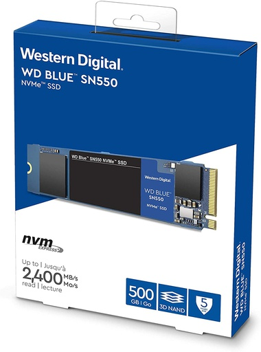 Disco Duro Blue Sn550 500gb Nvme Internal Ssd - Gen3 X4 Pcie